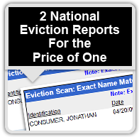 2 National Eviction Reports For the Price of One